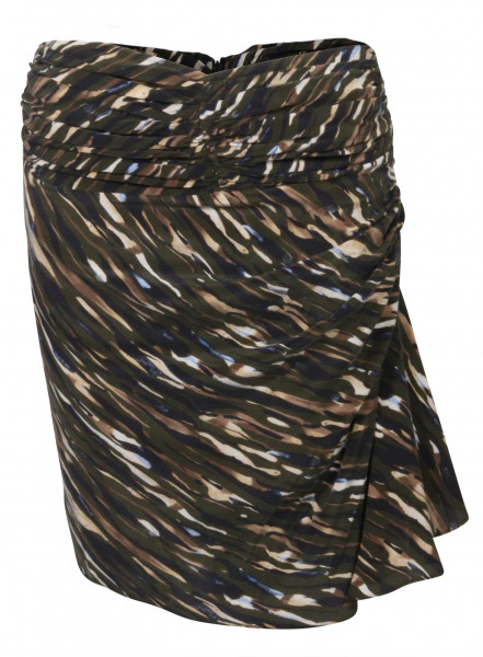 Women's Jadicted Silk Skirt Olive Printed