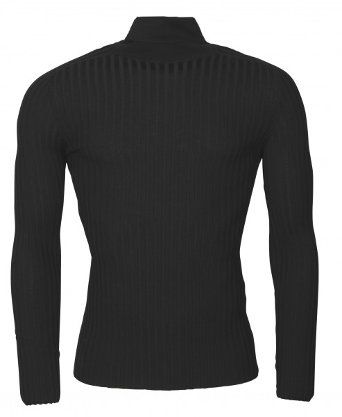 Men's Transit Uomo Wool Turtle Neck Sweater Black