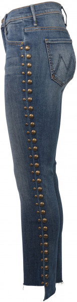 Mother Jeans Stud Insider Crop blau