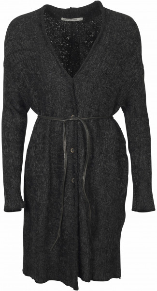 Women's Transit Par Such Cardigan With Leatherbelt Black