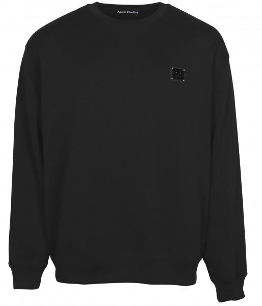 Unisex Acne Studios Sweatshirt Forba Plaque Face Black