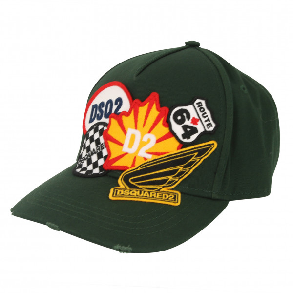 Dsquared Baseball Cap Dark Green Patched