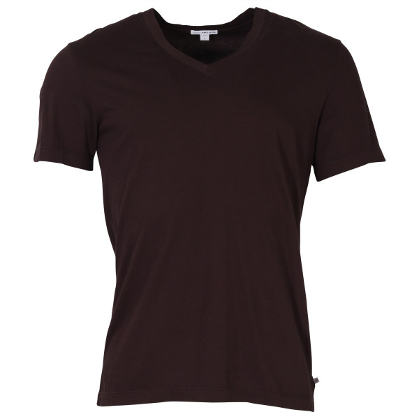 MEN'S JAMES PERSE V NECK SHIRT PLUM