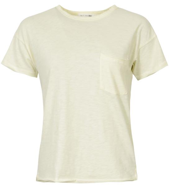 Rag & Bone T-Shirt Rundhals gelb