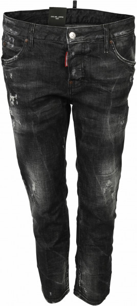 Women's Dsquared Jeans Cool Girl Cropped Black Washed