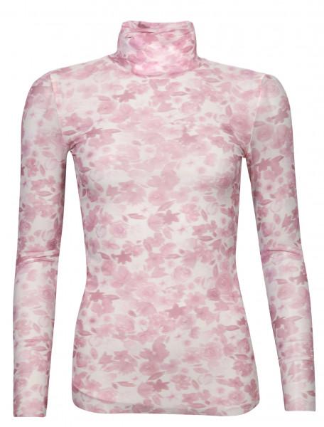 Women's Ganni Turtelneck Dusky Pink Floral