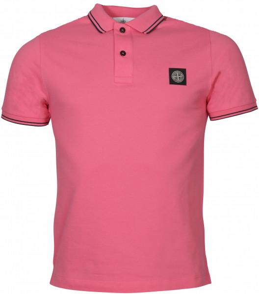 Men's Stone Island Poloshirt Pink/Black