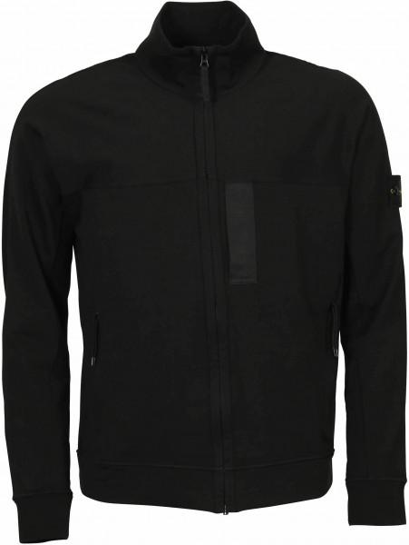 Men's Stone Island Sweat Zip Jacket Black