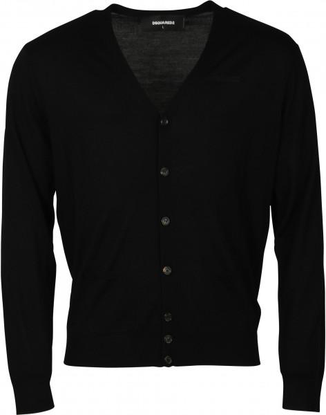 Men's Dsquared Knit Cardigan Black