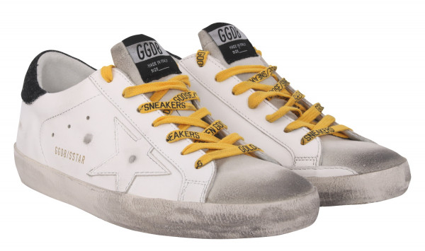 Men's Golden Goose Superstar White/Ice/Black