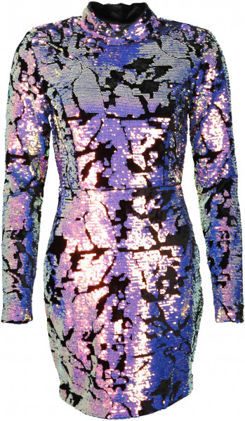 Women's Nikkie Velvet Dress Naomi Purple Sequins