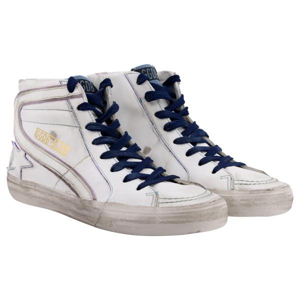 Golden Goose Sneaker Slide White Contrast Stitching