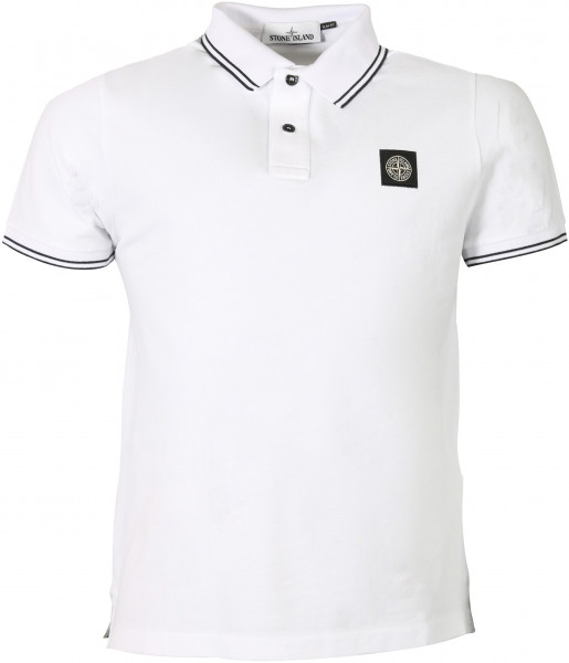 Men's Stone Island Poloshirt White/Black