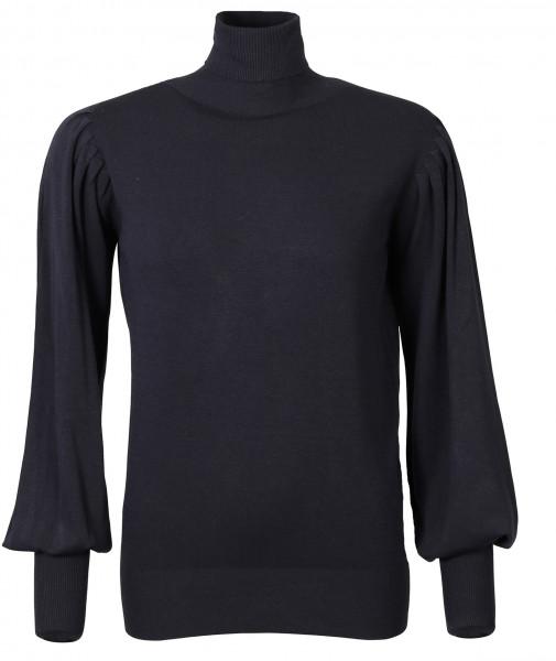 Women's Summum Knit Turtle Neck Pullover Night Blue