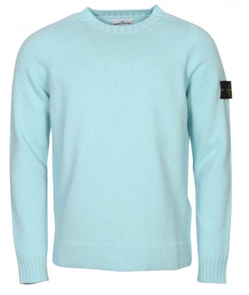 Men's Stone Island Knit Sweater Light Blue