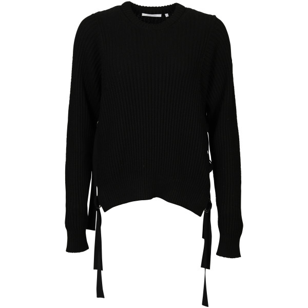 Women's Helmut Lang Sidestrap Sweater black