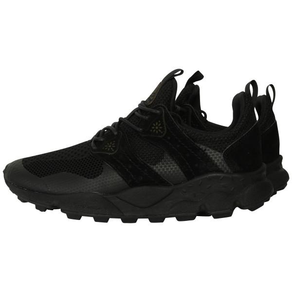 Flower Mountain Sneakers Velour Mesh schwarz