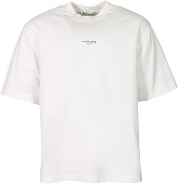 Men's Acne Studios Branded T-Shirt White