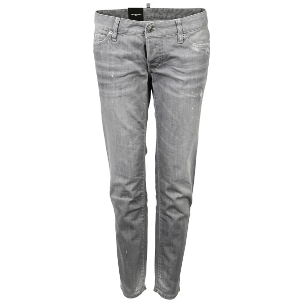 Women's Dsquared Jeans Jennifer Cropped Light Grey
