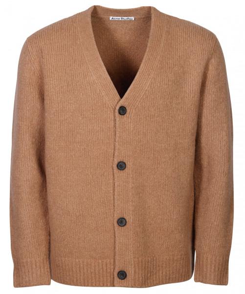 Men's Acne Studios Knit Cardigan Kabelo Cashmix Light Brown