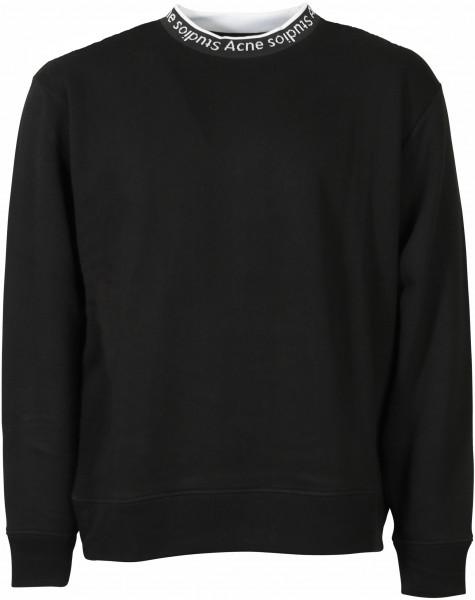 Men's Acne Studios Sweatshirt Fulton Logo Rib Black