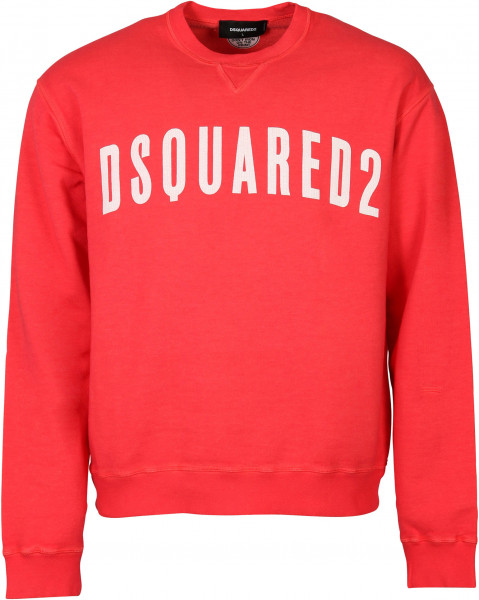 Men's Dsquared Sweatshirt Coral Red Printed