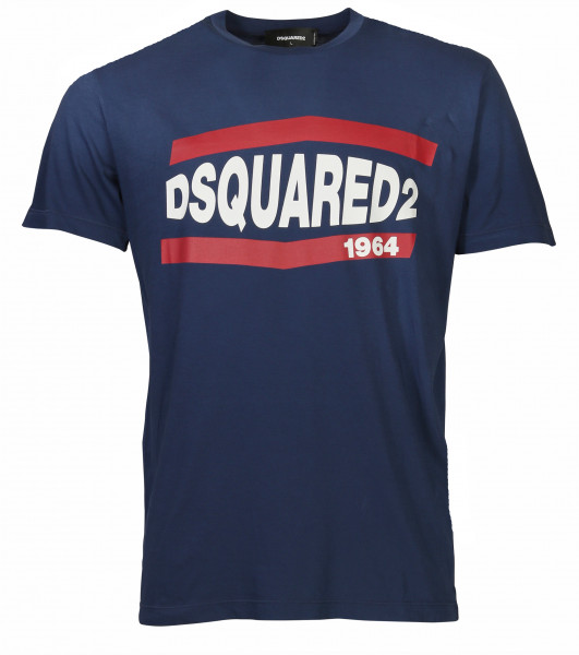 Men's Dsquared T-Shirt Blue Printed