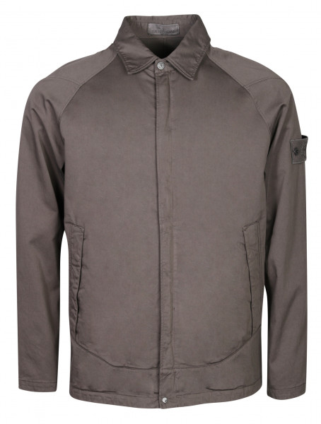 Men's Stone Island Ghostpiece Cotton Overshirt Grey