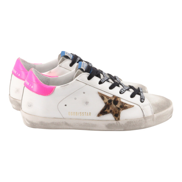 Women's Golden Goose Superstar White/Leo Star/Pink