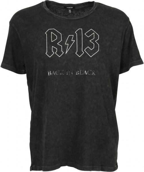 Women's R13 T-Shirt Back In Black