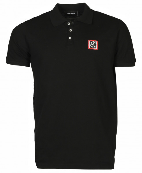 Men´s Dsquared Poloshirt Black Patched
