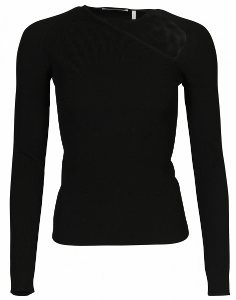 Women's Helmut Lang Stretch Raglan Pullover Black