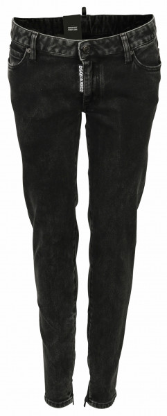 Women's Dsquared Jeans Medium Waist Skinny Black Washed
