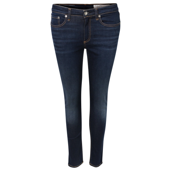 Women's Rag & Bone Mid Rise Ankle Skinny Dark Blue Washed