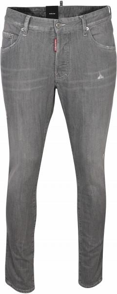 Men's Dsquared Jeans Skater Light Grey Washed