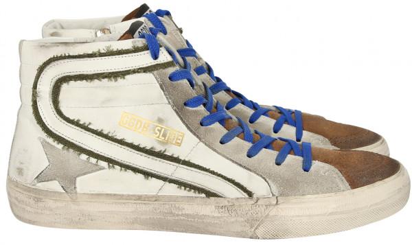 Men's Golden Goose Sneakers Slide White Leather
