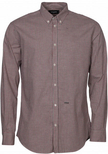 Men's Dsquared Check Shirt Red/Navy/Beige