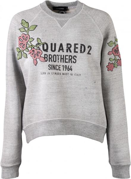 Women's Dsquared Sweatshirt Flower grau