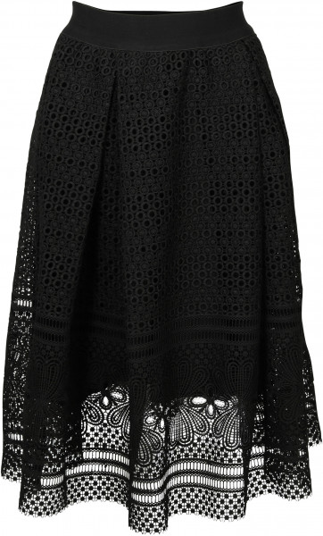 Women's Summum Skirt Heavy Lace Black