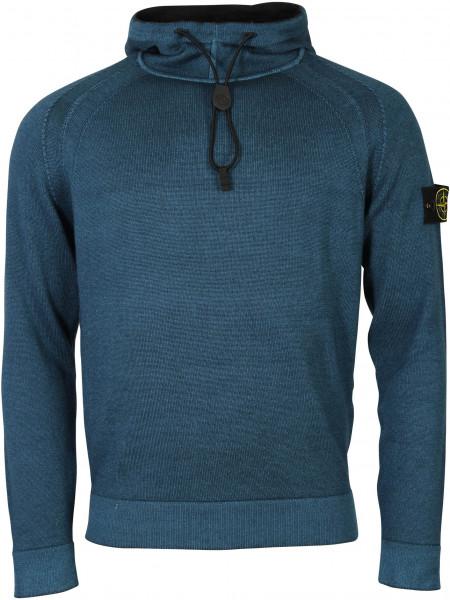 Men's Stone Island Knit Hoodie Blue