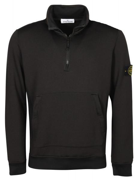 Men's Stone Island Zip Tech Sweatshirt Black