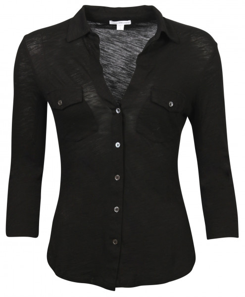 Women's James Perse Cotton Shirt Black