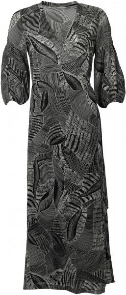 Women's Summum Wrap Dress Black Printed