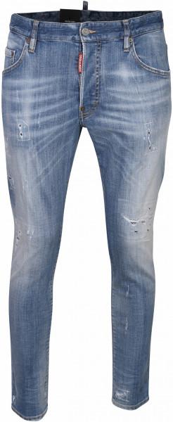 Men's Dsquared Jeans Skater Light Blue Washed