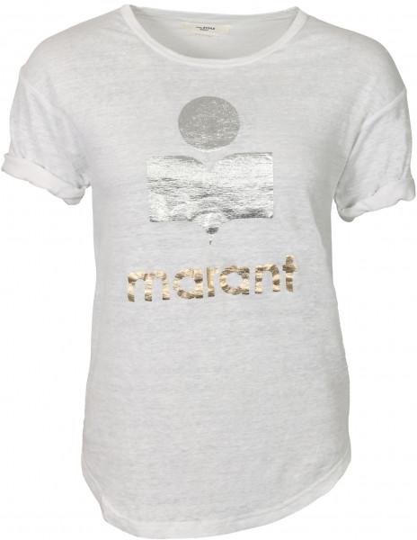 Women's Isabel Marant Etoile T-Shirt Koldi White/Silver