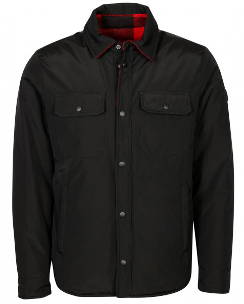 Men's Woolrich Reversible Overshirt Rowland Red Black Check
