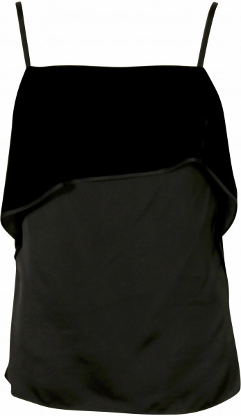Women's Helmut Lang Velvet Layer Top Black