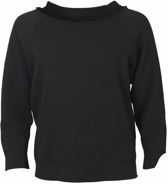 Women's Nili Lotan Sweatshirt Luka Washed Black