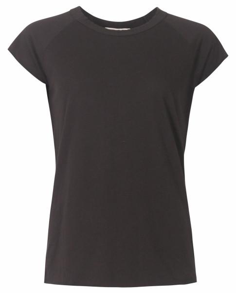 Women's Nili Lotan Baseball T-Shirt Washed Black