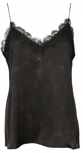Women's Anine Bing Silk Camisole Belle Black Tie Dye